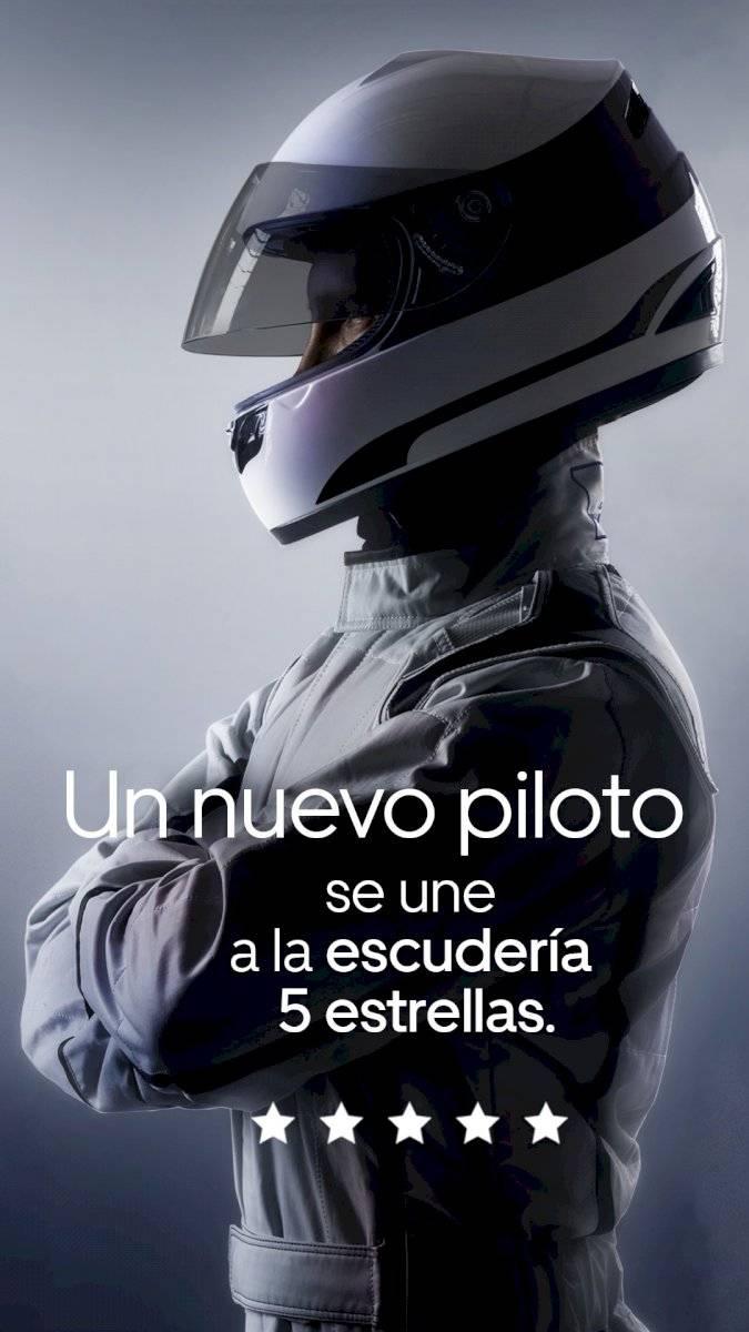 Checo Pérez, el primer piloto de F1 registrado como socio conductor de Uber