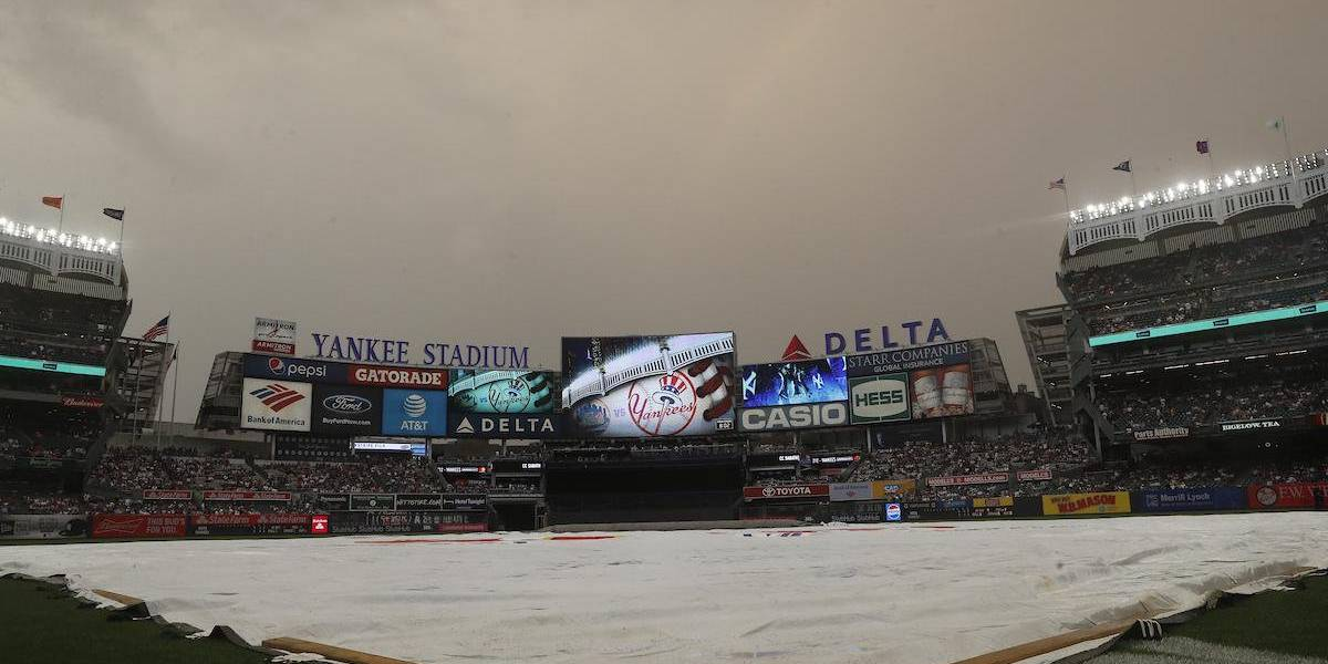 La lluvia impide el juego 4 entre los Astros y Yankees