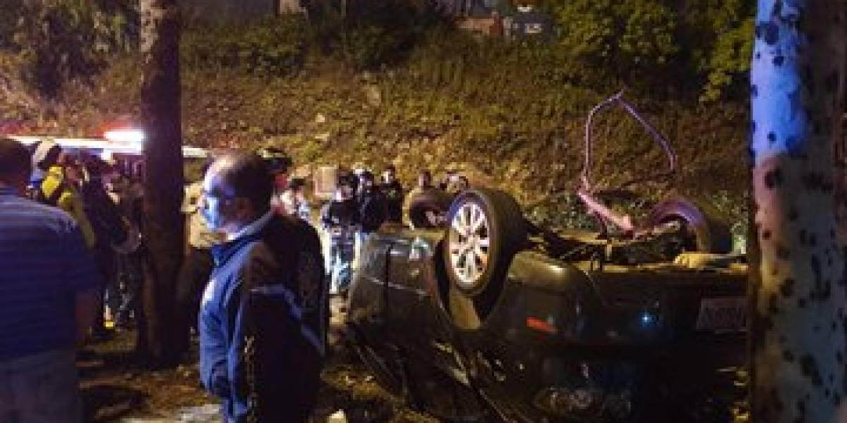 Dos heridos por accidente de tránsito en zona 6