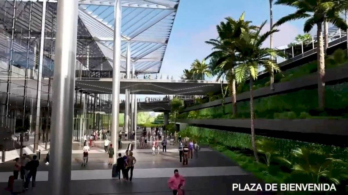 Zona de llegas del Aeropuerto de Santa Lucía. Foto: Captura de Pantalla.