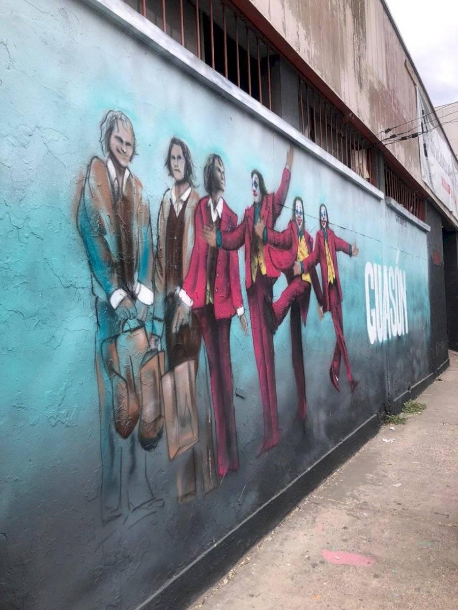 Llamativo mural del Joker aparece pintado en Chile