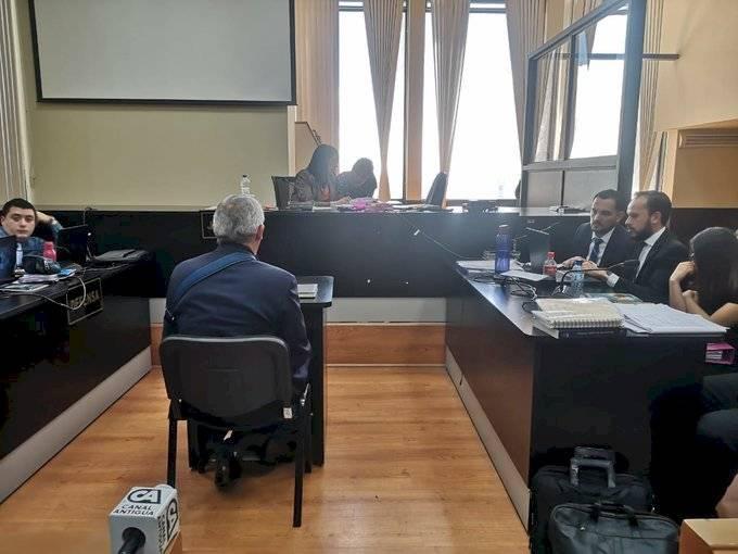 Expresidente Otto Pérez declara ante la jueza Erika Aifán. Emisoras Unidas