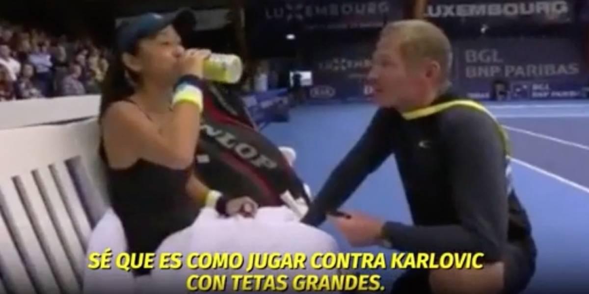 VIDEO: Polémica en el tenis tras comentario machista de un entrenador en pleno partido