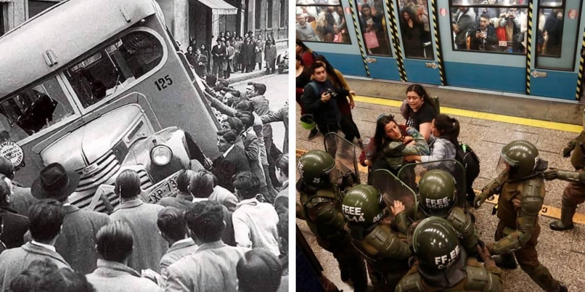 """La """"revolución de la chaucha"""": el logro de la manifestación ciudadana que también luchaba contra el alza del transporte público hace 70 años"""