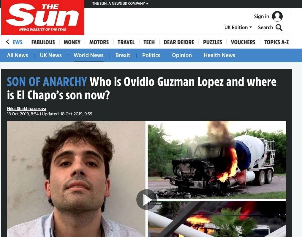 """""""Hijo de la Anarquía"""": The Sun"""