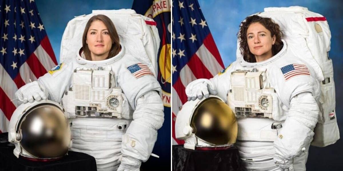 ¡Histórico! Dos astronautas inician el primer paseo espacial exclusivamente femenino