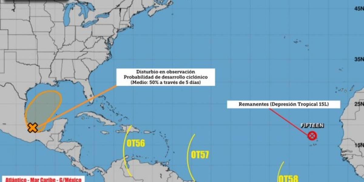 Depresión tropical Nestor se ubica en el golfo de México
