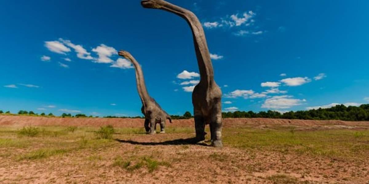 """Los dinosaurios gigantes """"jadeaban"""" como perros para mantenerse frescos, según un estudio"""