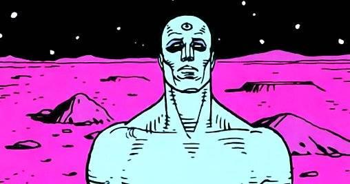 O Dr. Manhattan se teletransportou para uma nova galáxia, mas no trailer da série ele aparece vivendo em Marte – e depois assombrando na Terra. Reprodução