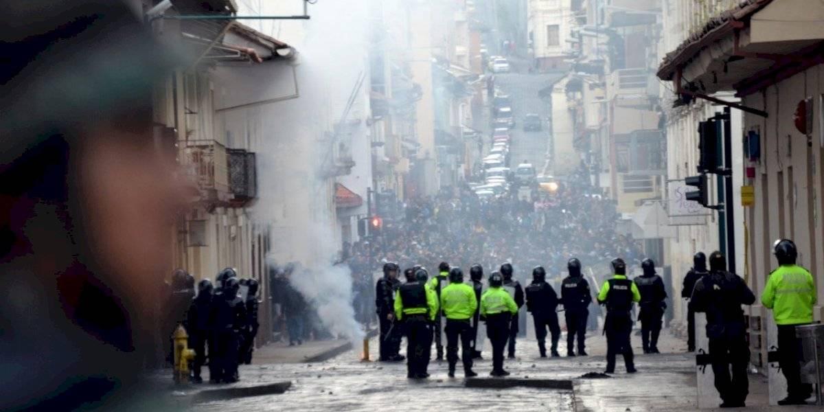 Paro en Ecuador: existieron 202 policías retenidos contra su voluntad