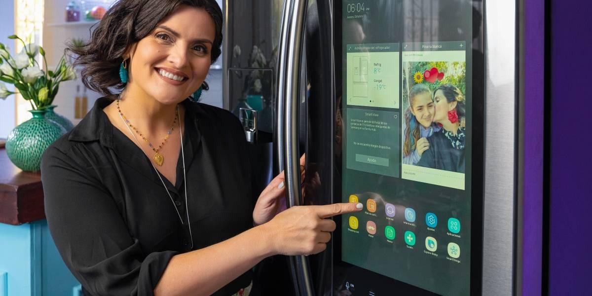 Samsung lanzó un refrigerador con cámaras y pantalla, donde incluso puedes ver Netflix
