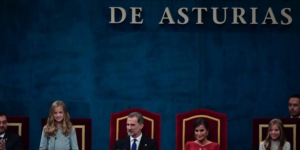 Princesa Leonor de España emociona con primer discurso en ceremonia de Premios Princesa de Asturias