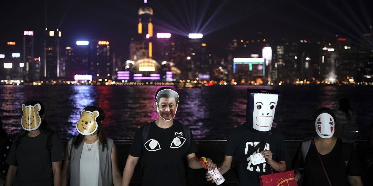 Reavivan protestas en Hong Kong con máscaras de Winnie Pooh