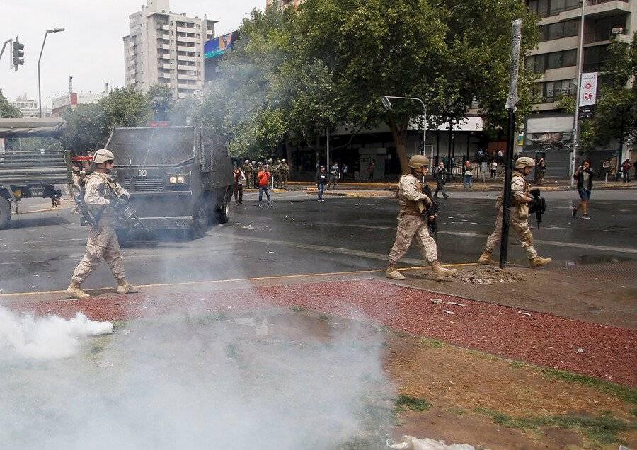 Militares Plaza Italia