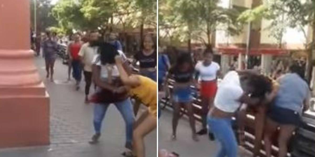 (VIDEO) Dos trabajadoras sexuales habrían protagonizado bochornosa pelea