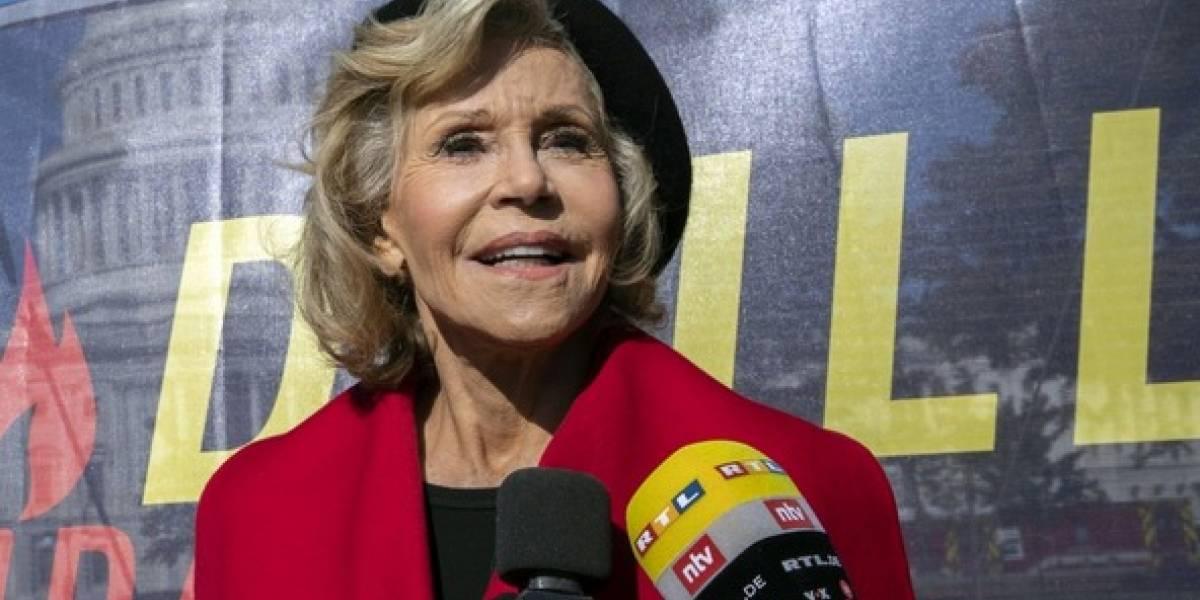 Jane Fonda es arrestada por participar en protesta climática
