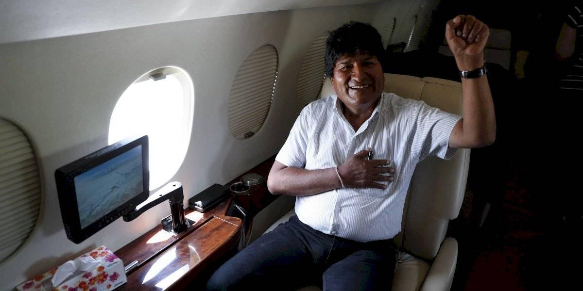 Eva Morales ya está de camino a México