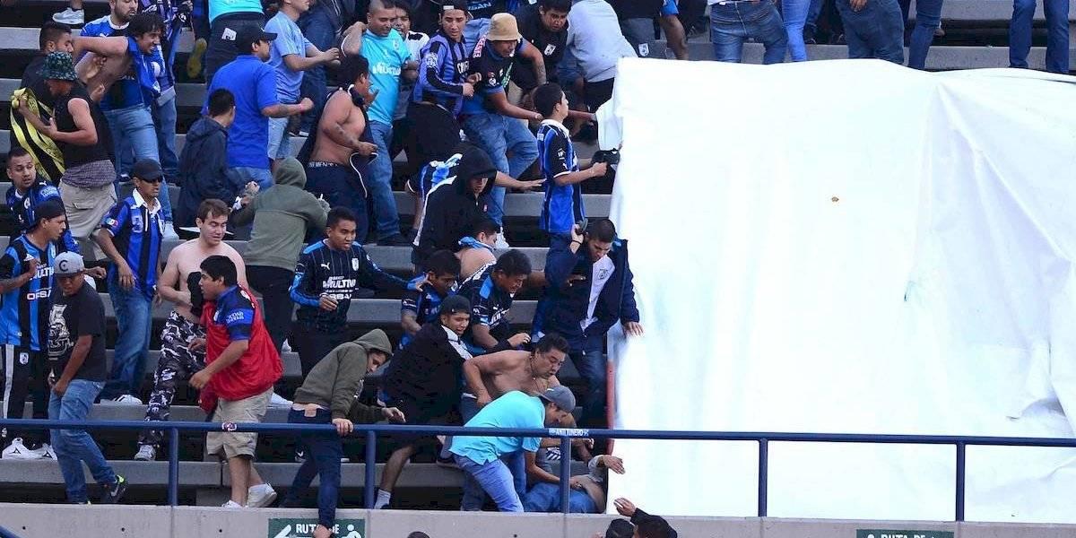VIDEO: Aficionado del Atlético de San Luis es salvajemente golpeado