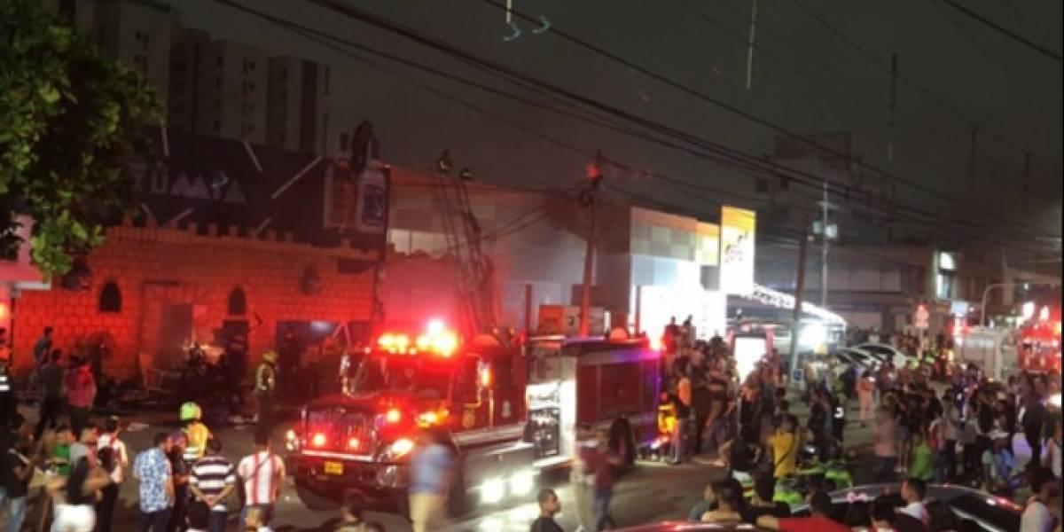 Cinco personas heridas por incendio en un club nocturno de Barranquilla