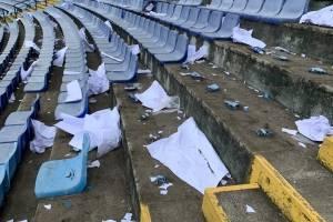 Destrozos en el estadio Doroteo Guamuch Flores
