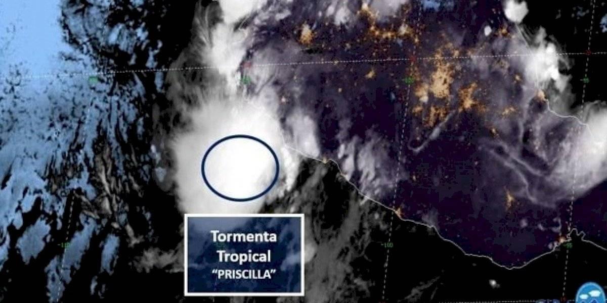 Se forma la tormenta tropical Priscila; tocará tierra en Colima