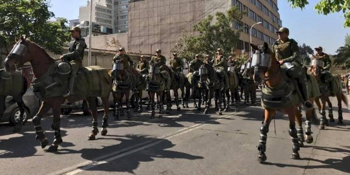 Los caballos de la policía chilena ahora tienen armadura