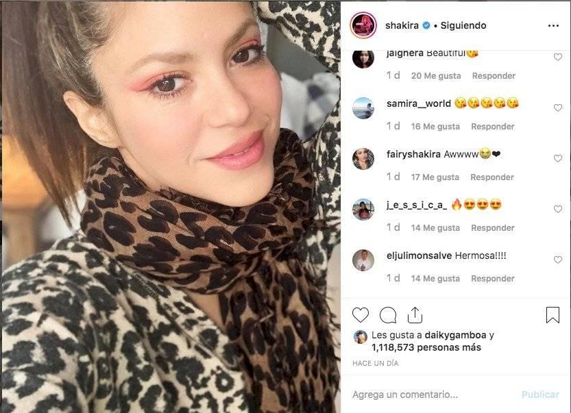 Shakira se cambió el look Instagram
