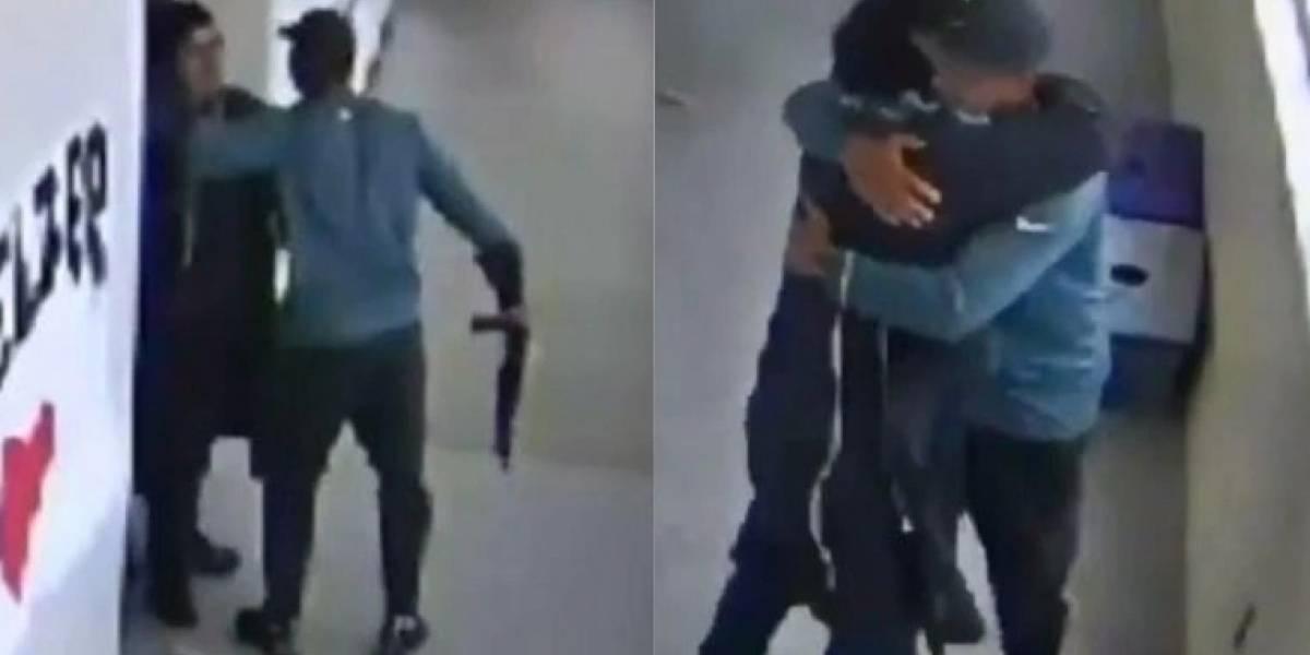 Vídeo viral prova que treinador desarmou aluno com abraço e evitou massacre em escola