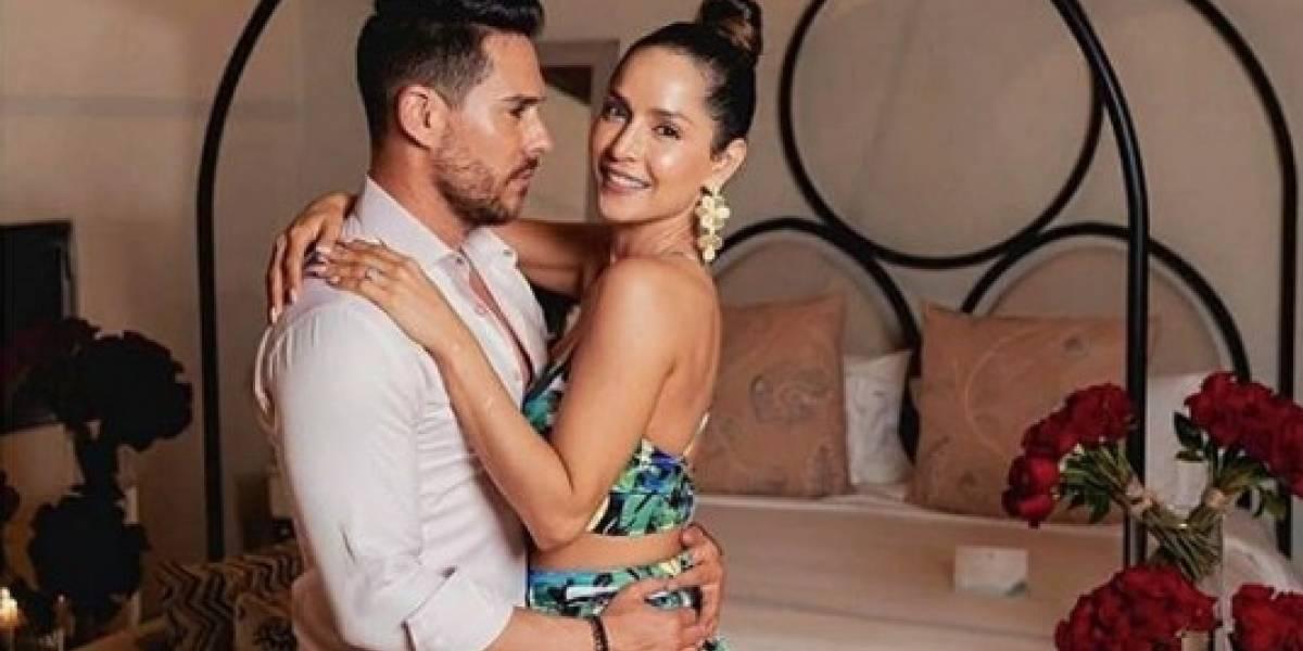 Carmen Villalobos se exhibe junto con su esposo en sexys pijamas tras su noche de bodas