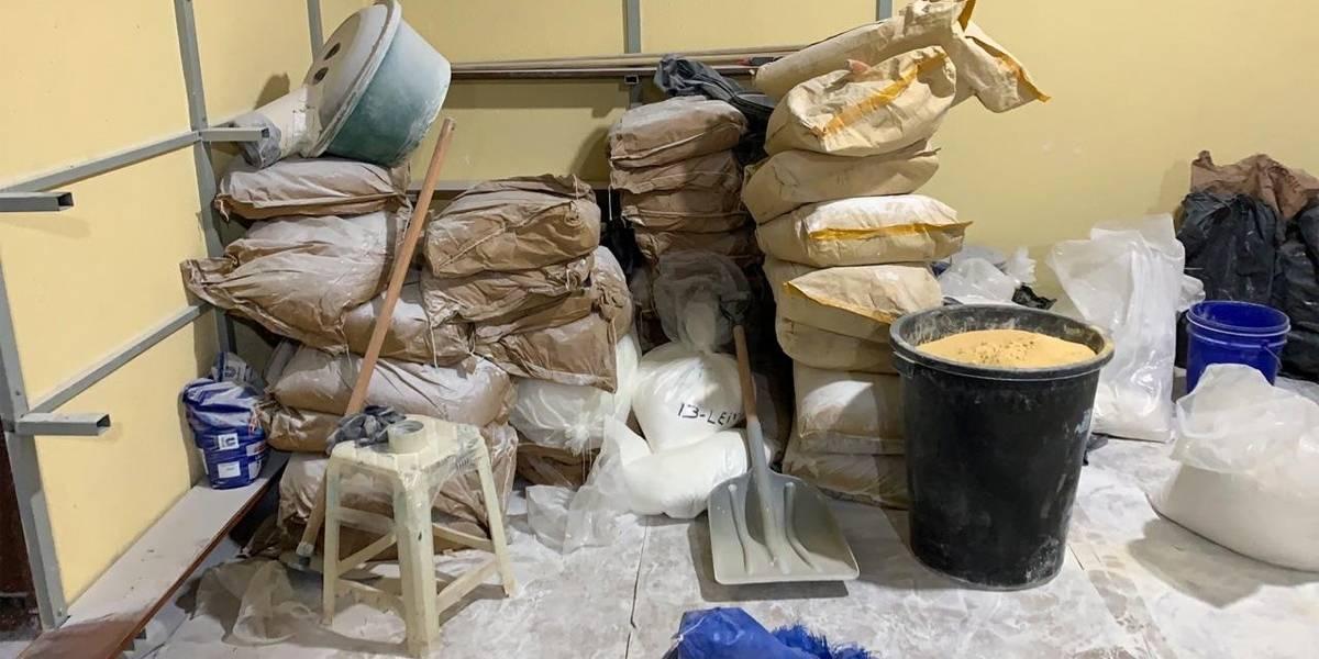 Refinaria de cocaína desativada tinha estoque de 2,2 toneladas de droga