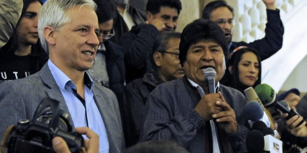 VIDEO. Morales celebra triunfo electoral en Bolivia sin mencionar segunda vuelta