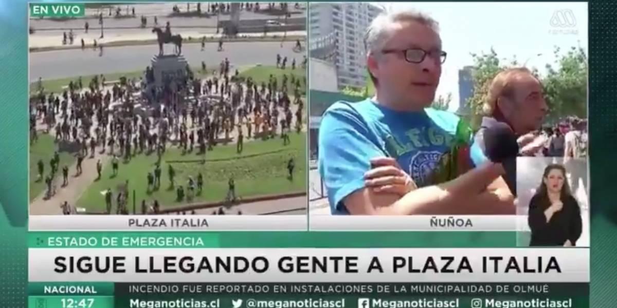 """¿Por qué siguen preguntando hue...?"": la fuerte ""parada de carros"" de hombre a periodista de Mega"