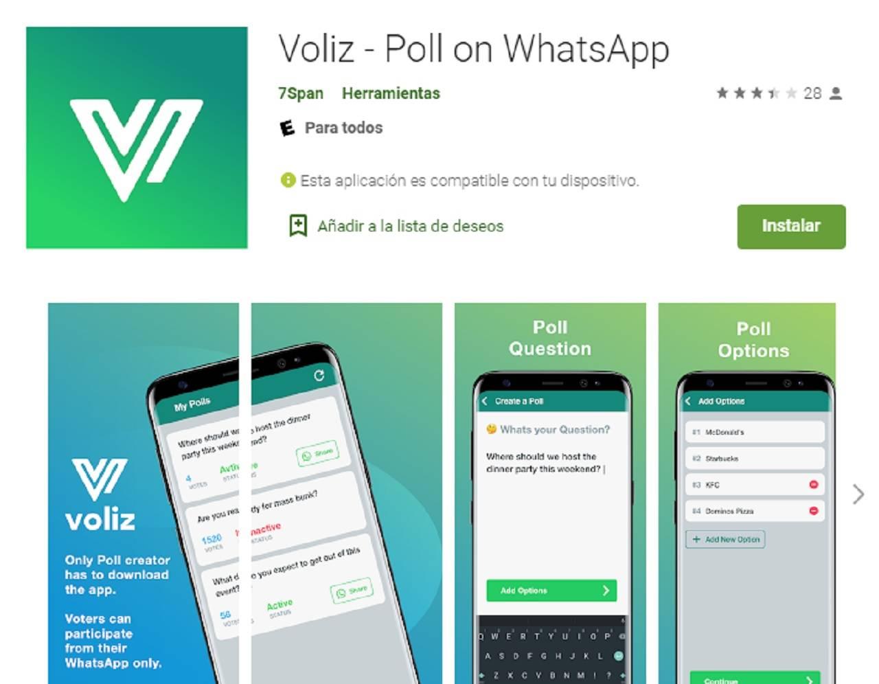 Hacer encuestas por WhatsApp™ es probable con esta aplicación