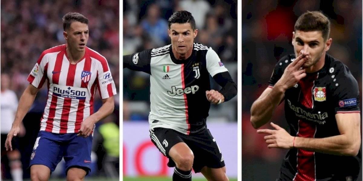 Tabla de posiciones del grupo D de la Champions 2019-20 ((Juventus, Atlético Madrid, Leverkusen, Lokomotiv))