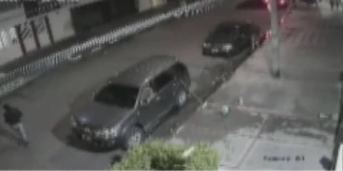 (VIDEO) Comunidad logró evitar el robo de una camioneta en Bogotá