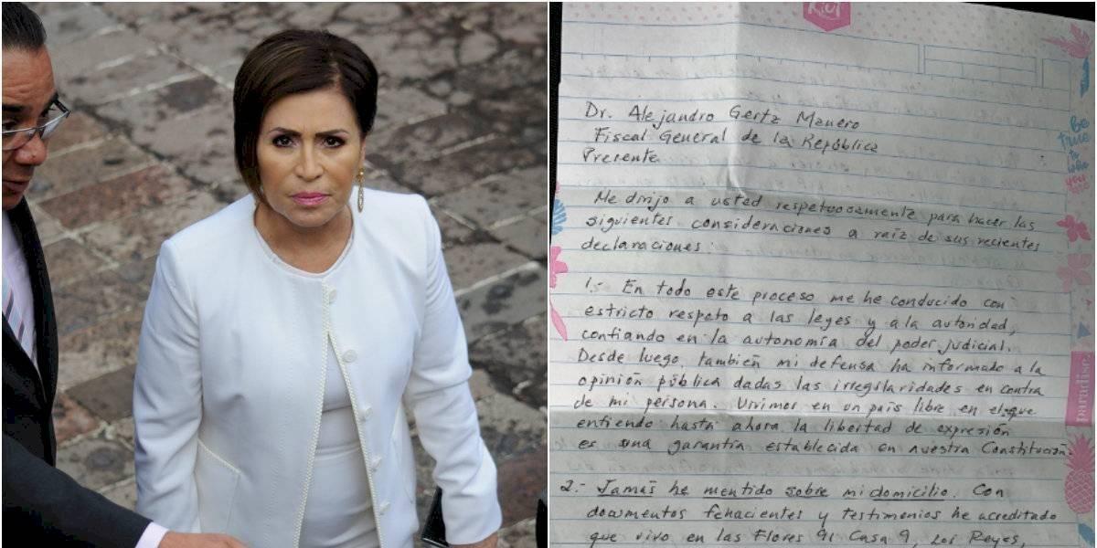 Rosario Robles envía carta a Gertz Manero; pide no retenerla con delitos inventados