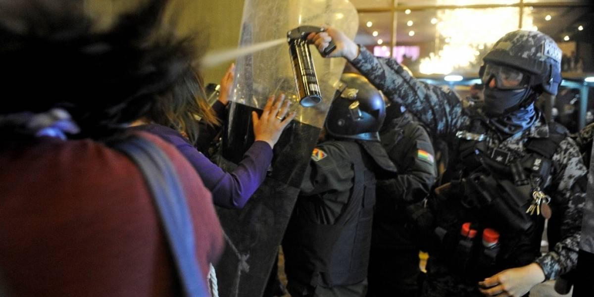 EN IMÁGENES. Incidentes estallan en Bolivia por resultados electorales