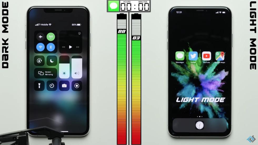 iPhone batería Modo Oscuro
