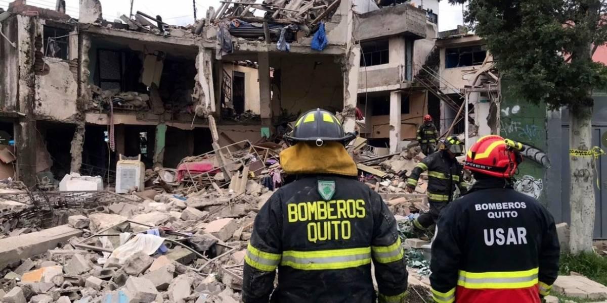 1 fallecido y 6 heridos en deflagración por acumulación de gas en Quito
