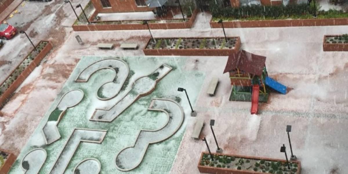 (Imágenes) Torrencial aguacero con granizo paraliza Bogotá