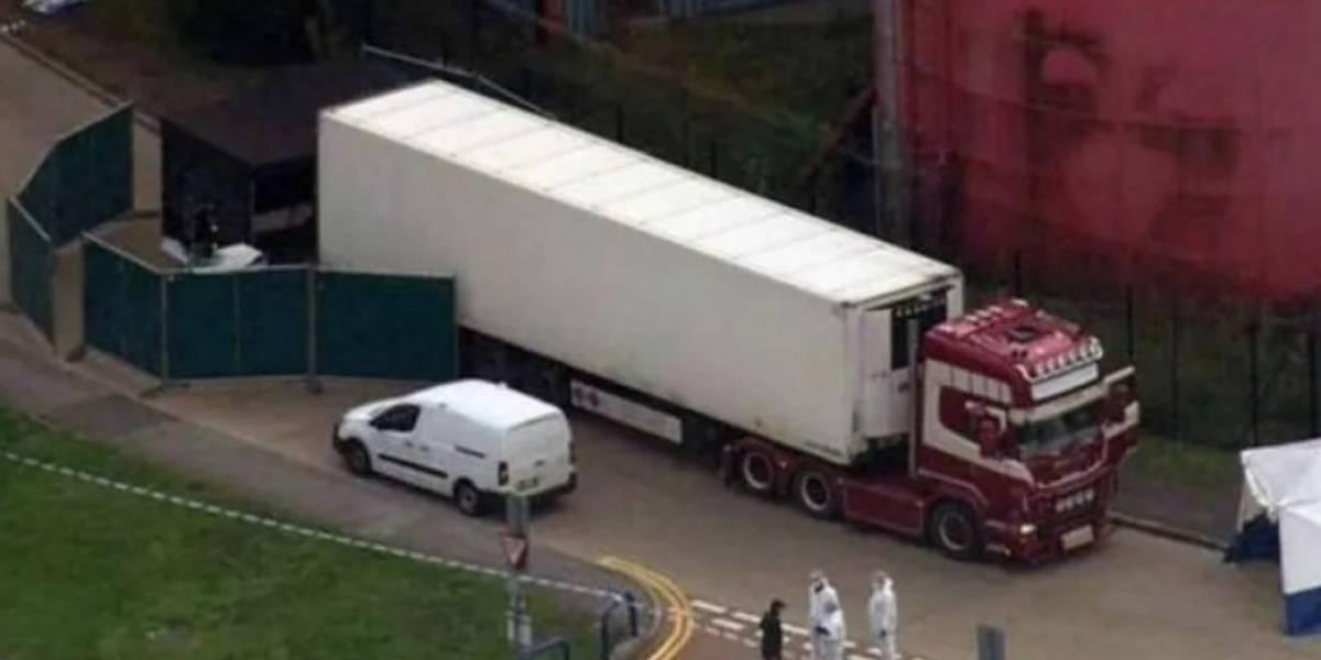 ¡Horror en Reino Unido! Hallan 39 personas muertas dentro de un camión en Inglaterra