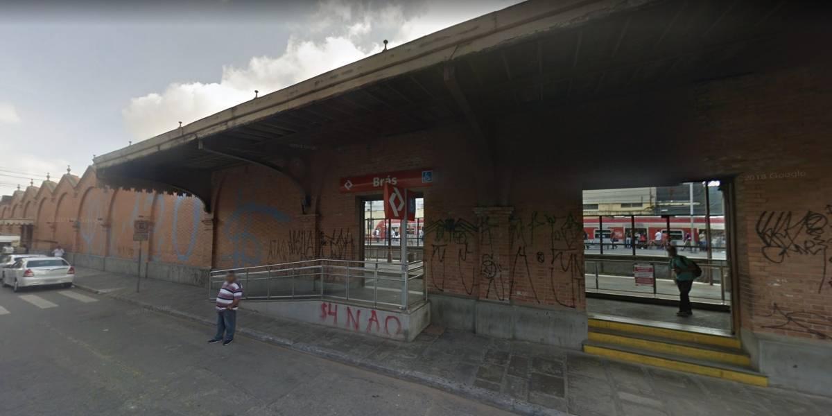 Muro de 152 anos da estação Brás da CPTM deve ser restaurado