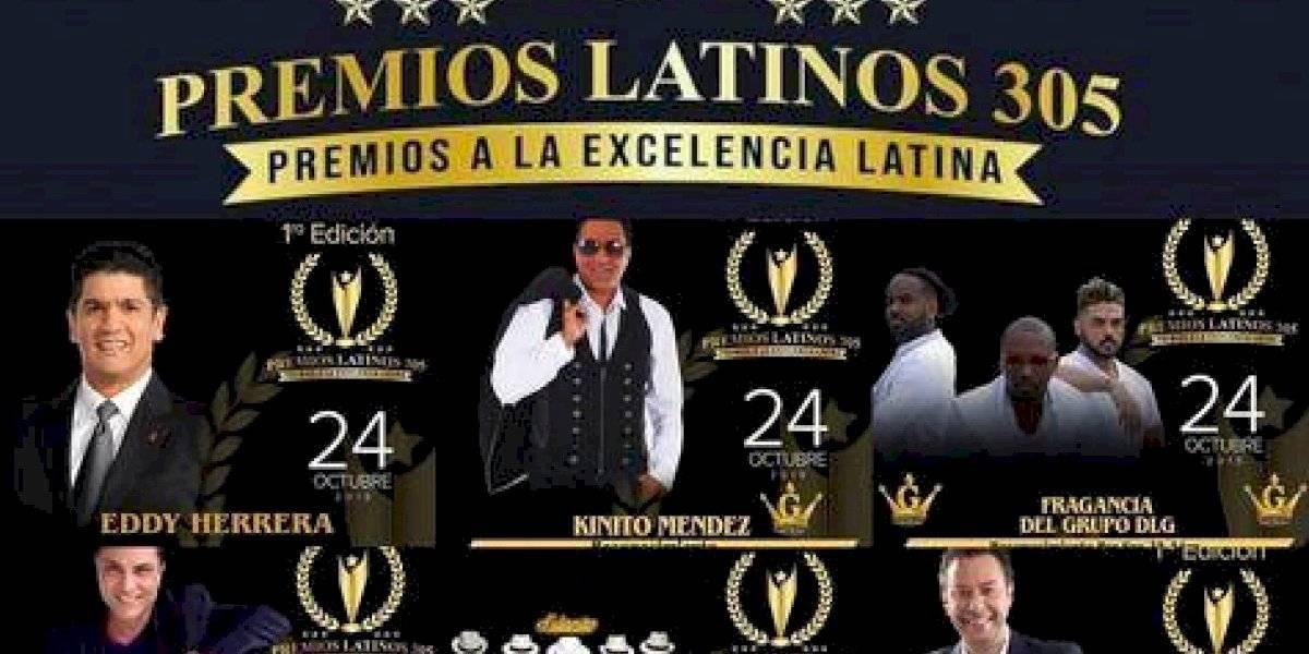 """Premios """"Latinos 305"""" reconocerá artistas del continente"""