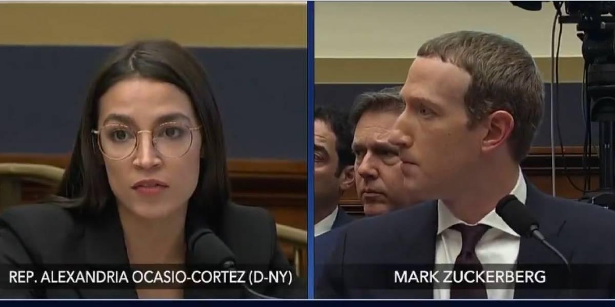 """Ocasio-Cortez se enfrentó a Zuckerberg: """"Facebook ahora permite a los políticos pagar para difundir la desinformación"""""""