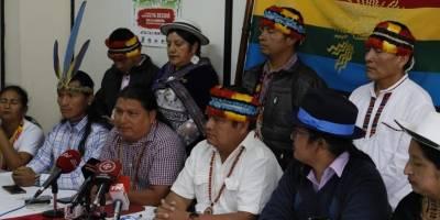 Presidente de la Conaie, Jaime Vargas, desmiente la creación de un ejército armado