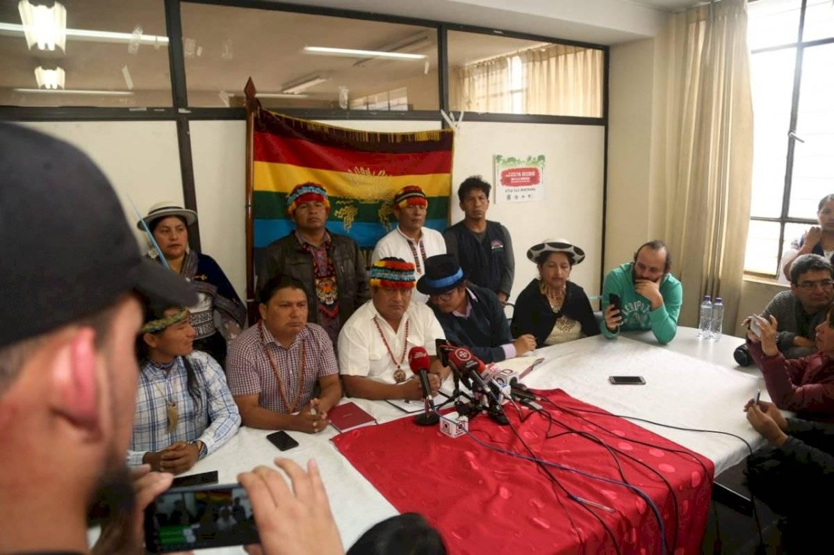 Presidente de la Conaie, Jaime Vargas, desmiente la creación de un ejército armado API