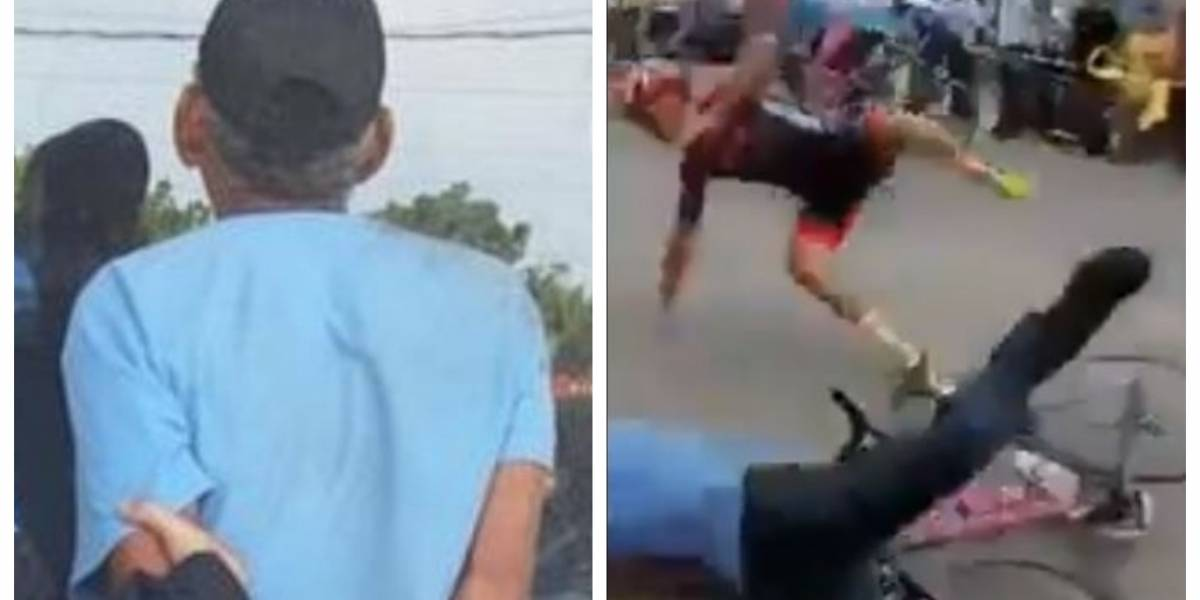 VIDEO. Capturan a hombre que protagonizó aparatosa caída en Vuelta Ciclística