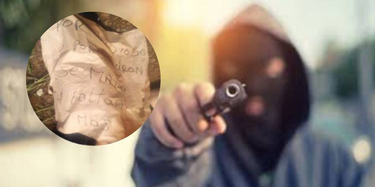 Asesinan a un hombre y dejan un fuerte mensaje de advertencia pegado en su torso