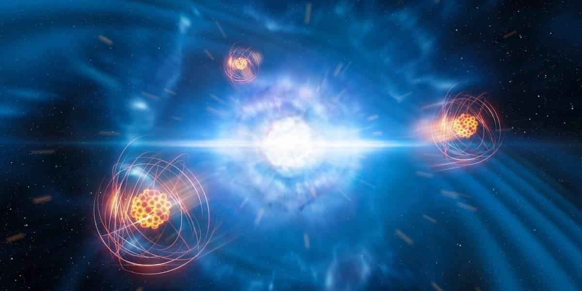 Hallan un elemento pesado nacido de una fusión de estrellas por primera vez
