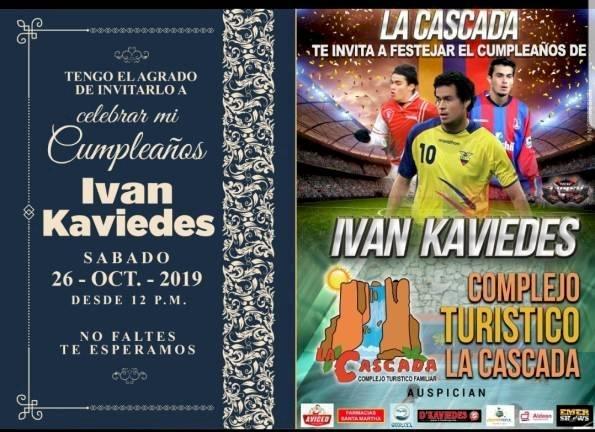 ¡Farrón! Iván Kaviedes festejará su cumpleaños a lo grande